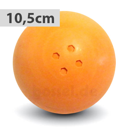 Boßelkugel gummi 10.5cm orange (Hobby)